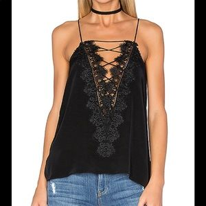 🖤 Cami NYC Charlie Silk Lace Top Black XS 🖤